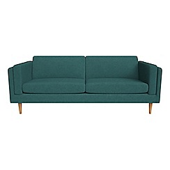 Debenhams - 4 seater velour 'Lille' sofa