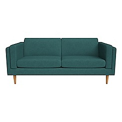 Debenhams - 3 seater velour 'Lille' sofa