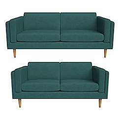 Debenhams - 3 seater and 2 seater velour 'Lille' sofas