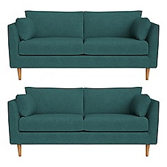 RJR.John Rocha - Set of two 2 seater velour 'Ravello' sofas