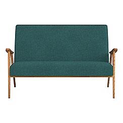 Debenhams - Compact velour 'Kempton' sofa