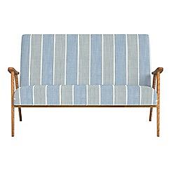 Debenhams - Compact striped brushed cotton 'Kempton' sofa