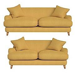 Debenhams - 3 seater and 2 seater tweedy weave 'Archie' sofas