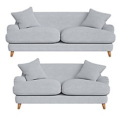 Debenhams - 3 seater and 2 seater brushed cotton 'Archie' sofas