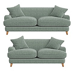 Debenhams - 3 seater and 2 seater chenille 'Archie' sofas
