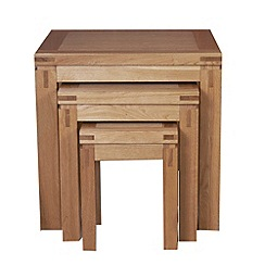 Debenhams - Oak 'Kent' nest of 3 tables