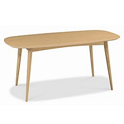 Debenhams - American oak finished 'Saturn' fixed-top table