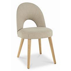 Debenhams - Pair of cream fabric 'Saturn' dining chairs