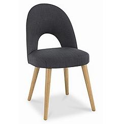 Debenhams - Pair of grey fabric 'Saturn' dining chairs