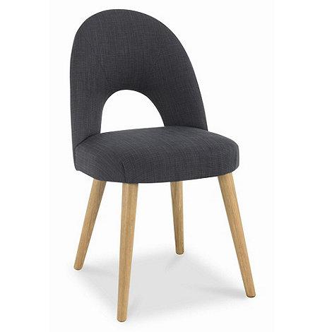 Debenhams - Pair of grey fabric +Saturn+ dining chairs