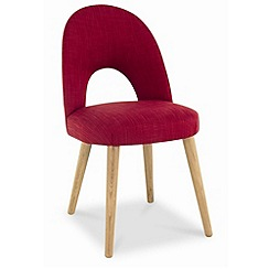 Debenhams - Pair of red fabric 'Saturn' dining chairs