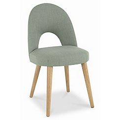 Debenhams - Pair of green fabric 'Saturn' dining chairs