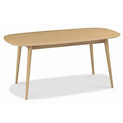 Debenhams - American oak finished 'Saturn' extending table