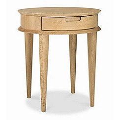 Debenhams - American oak finished 'Saturn' side table with single drawer