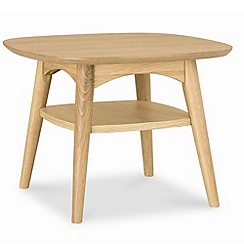 Debenhams - American oak finished 'Saturn' side table