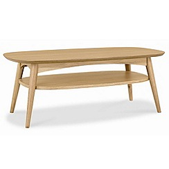 Debenhams - American oak finished 'Saturn' coffee table