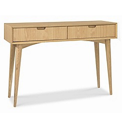 Debenhams - American oak finished 'Saturn' console table