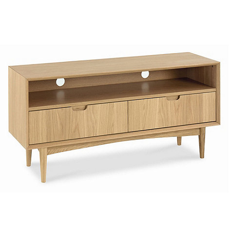 Debenhams - American oak finished +Saturn+ TV unit