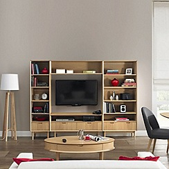 Debenhams - American oak finished 'Saturn' entertainment unit