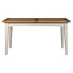 Debenhams - Oak and painted 'Wadebridge' large extending table