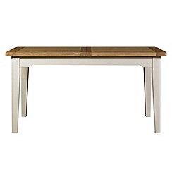 Debenhams - Oak and painted 'Wadebridge' small extending table