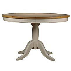 Debenhams - Oak and painted 'Wadebridge' fixed-top table