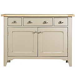 Debenhams - Oak and painted 'Wadebridge' small sideboard