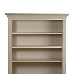 Debenhams - Oak and painted 'Wadebridge' shelving unit