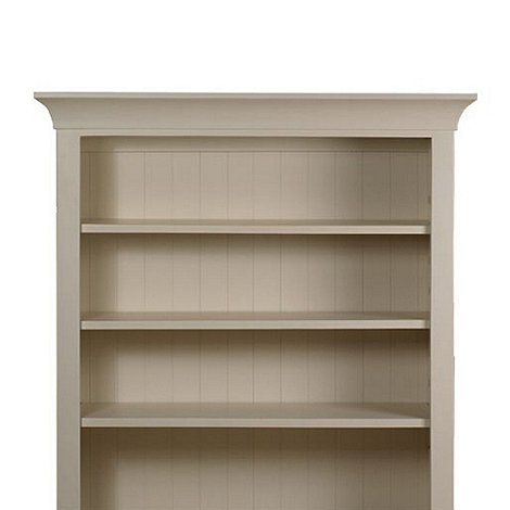 Debenhams - Oak and painted +Wadebridge+ shelving unit