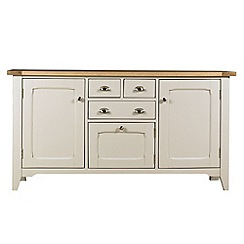 Debenhams - Oak and painted 'Wadebridge' large sideboard