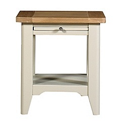 Debenhams - Oak and painted 'Wadebridge' side table