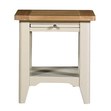Debenhams - Oak and painted +Wadebridge+ side table