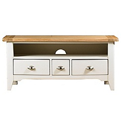 Debenhams - Oak and painted 'Wadebridge' TV unit