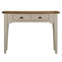 Debenhams - Oak and painted 'Wadebridge' console table