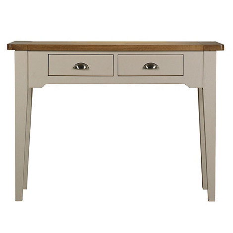 Debenhams - Oak and painted +Wadebridge+ console table