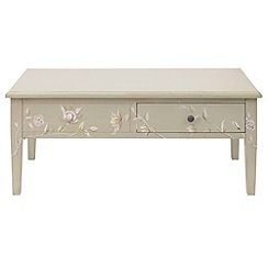 Debenhams - Cream 'Antoinette' coffee table with 2 drawers