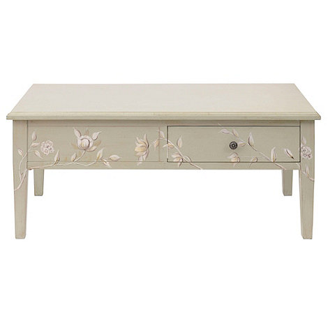 Debenhams - Cream +Antoinette+ coffee table with 2 drawers