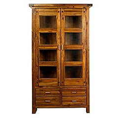Debenhams - Acacia 'Elba' glazed display cabinet