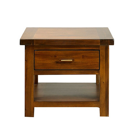 Debenhams - Acacia +Elba+ side table with single drawer