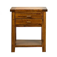 Debenhams - Acacia 'Elba' side table with 2 drawers