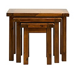 Debenhams - Acacia 'Elba' nest of 3 tables