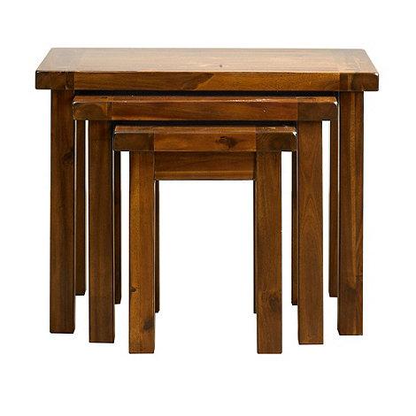 Debenhams - Acacia +Elba+ nest of 3 tables