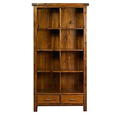 Debenhams - Acacia 'Elba' large bookcase with 2 drawers