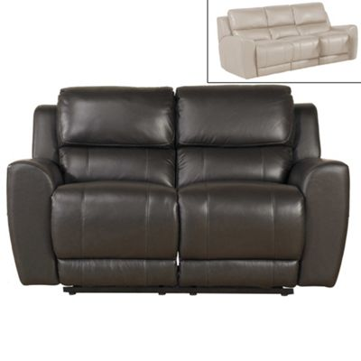 2 Seater Brown Leather Recliner - Donkiz Sale