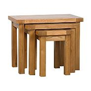Oak 'Rushmore' nest of 3 tables