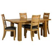 Oak 'Rushmore' small extendable table & six chairs set