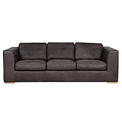 Debenhams - Extra-large leather 'Paris' sofa