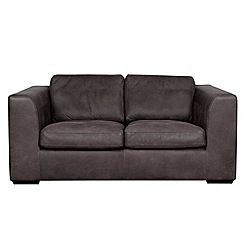 Debenhams - Medium leather 'Paris' sofa