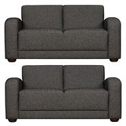 Slate two medium 'Savoy' sofa set with dark feet