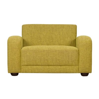 Lime Savoy snuggler chair with dark feet